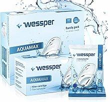 Wessper AQUAMAX Filterkartuschen, kompatibel mit BRITA Maxtra, PearlCo, Amazon Basics - Pack 15
