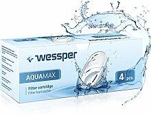 Wessper AQUAMAX Filterkartuschen, kompatibel mit BRITA Maxtra, PearlCo, Amazon Basics - Pack 4