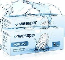 Wessper AQUAMAX Filterkartuschen, kompatibel mit BRITA Maxtra, PearlCo, Amazon Basics - Pack 8