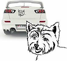 West Highland Terrier Dekoration für Wände Autotattoo Folienschnitt Hunde | KB235