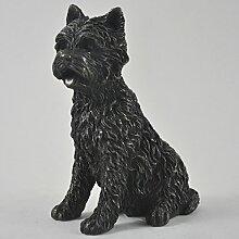 West Highland White Terrier groß kalt gegossen Bronze Statue Skulptur Hund Pets Geschenkidee 14cm