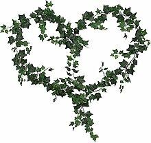 Westeng 1 Stück Künstliche Pflanzen Efeugirlande Hängende Rebe Dekoration Zubehör für Hochzeit Party Garten Festival Dekorationen Wanddekoration - 200cm