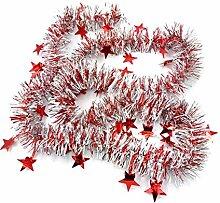 Westeng Weihnachten Girlande mit Stern Bunt Band