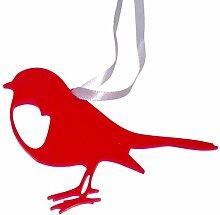 Westergaard Designs rot Robin Dekoration 4Stück