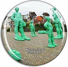 Westerland Statue Deutschland Kühlschrankmagnet