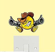 Western Cowboy Gedruckt Cool Cartoon Aufkleber