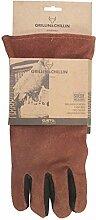 Western Grillhandschuh Ofenhandschuh Wildleder, ca. 36 x 14 cm, braun/schwarz, 1 Stück