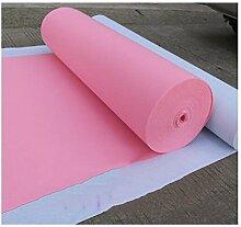 Western-Hochzeits-Teppich Einmaliges Thema-Tätigkeits-Art- und Weiseerscheinen-Abschluss-Feier-Partei-rutschfester Wolldecke (rosafarbener Teppichläufer) ( größe : 1.5m*20m )