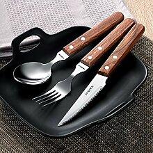 Western-Küchenmesser und -gabel aus Edelstahl im