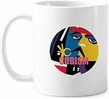 Western Modern Art Cubism Tasse Keramik Kaffee