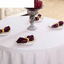 Westliches Essen Restaurant Tischdecken/ Hotel große Runde Tischdecke/Tischdecke decke/ einfache und moderne Garten Tischdecke/ Mode Tischdecke-B Durchmesser300cm(118inch)