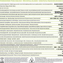 Westlicht LED Einbaustrahler 4W 300lm 3000K flach