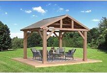 Westmann Holzpavillon Yukon 14x12 Natur braun,