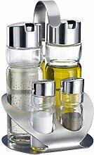 Westmark 4er-Menage für Salz, Pfeffer, Öl und