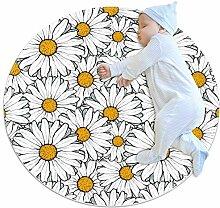 Wetia Chrysantheme weiß Runder Teppich für
