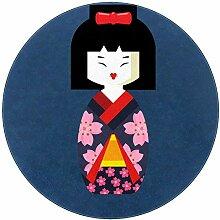 Wetia Karikatur Japanisches Mädchen Runder