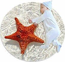 Wetia Roter Seestern Sand Runder Teppich für