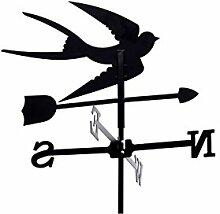 Wetterfahne Schwalbe klein 50cm schwarz Metall Wetterhahn Windfahne Windrose