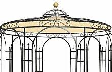 Wetterfeste Dachverkleidung fuer Gartenpavillon Metall Eleganz 250cm