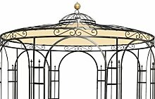 Wetterfeste Dachverkleidung fuer Gartenpavillon Metall Eleganz 350cm