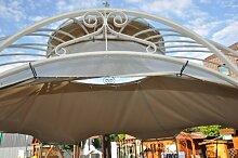 Wetterfeste Dachverkleidung fuer Gartenpavillon Metall Romantik 400cm