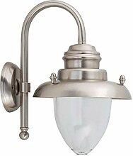 Wetterfeste Wandlampe Messing Glas maritim in