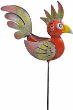 Wetterfester Metall-Gartenstecker ''Adam'' von Medusa | Maße: 60x8x19 cm | vers. Farben (Orange)