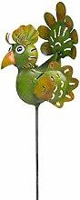 Wetterfester Metallgartenstecker ''Eve'' von Medusa | 60x8x19 cm | Farbe: grün