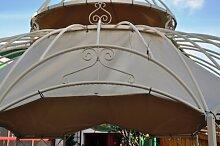 Wetterfester Sonnenschutz fuer Gartenpavillon Metall Romantik 340cm