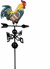 Wetterhahn Metall für den Garten Windspiel Hahn
