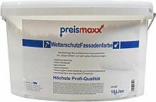 Wetterschutz Fassadenfarbe, weiß, 10 Liter, mit