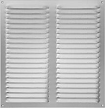 Wetterschutzgitter Aluminium eckig 400 x 400 mm