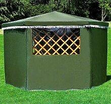 Wetterschutzumhang für Pavillon MARBURG Gartenlaube Holzpavillon