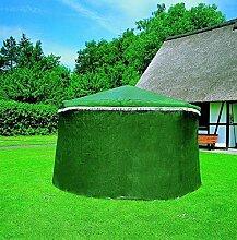 Wetterschutzumhang für Pavillon ROSENHEIM grün o. weiß (Grün)