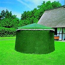Wetterschutzumhang in grün für Pavillon Rosenheim