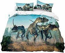 WFBZ Kinder Jungen Bettwäsche Dinosaurier Mit