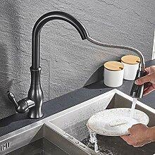 WFE&QFN Küchenarmatur Schwarz Spültischmischer