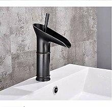 wffmx Antike Bronze Schwarz Waschbecken Wasserhahn
