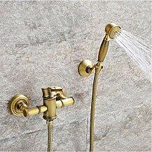 wffmx Antikes Badezimmer Bambus Badewanne Dusche