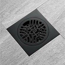 wffmx Dusche Messing Bodenablauf Schwarz