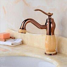 wffmx Europäische Gold Waschbecken Wasserhahn