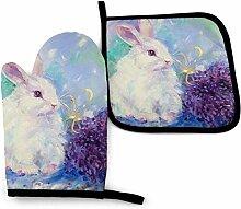 Wfispiy Häschen Kaninchen Lavendel Pflanze Grün