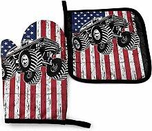 Wfispiy Monster Truck Amerikanische Flagge USA