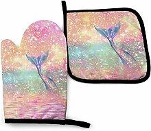 Wfispiy Pink Galaxy Mermaid Tail Seekatzen Reiten