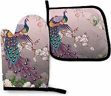 Wfispiy Schöne Pfau Collage von Sommer Muscheln