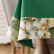 WFLJL einfache Dekoration Tischdecke aus Baumwolle/Rechteck Abdeckung Tuch 140 * 220 cm