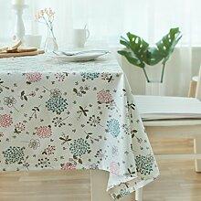 WFLJL einfachen Stil Abdeckung Tuch Picknicktisch Baumwolle Rechteck Tischdecke 120*120 cm
