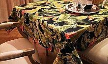WFLJL einfachen Stil TableclothCoffee tisch Esstisch Baumwolle Rechteck Abdeckung Tuch 140 * 180 cm