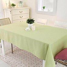 WFLJL Einfachen Stil, Tischdecke,, Küche, Esstisch, Couchtisch, Tuch, Grün, 180 * 130 cm