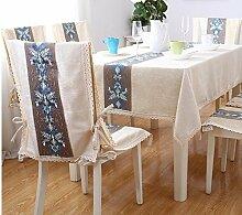 wfljl europäischen Stil Tischdecke Baumwolle Esstisch rechteckig Tischdecken 140* 210
